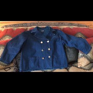 Plus size Levi double breasted jacket.